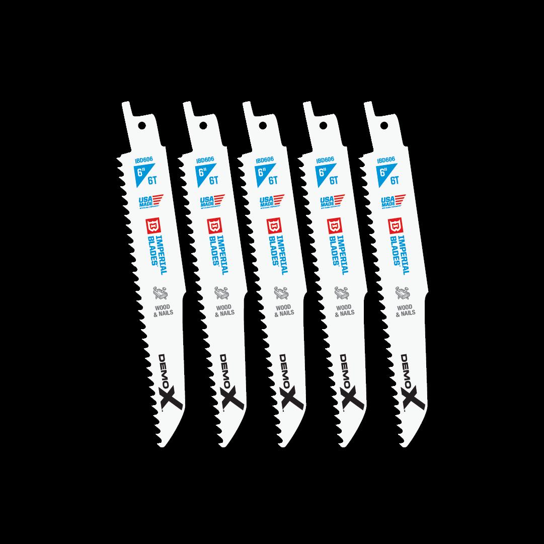 Demolition 6″ 6 TPI Wood & Nails Reciprocating Blade