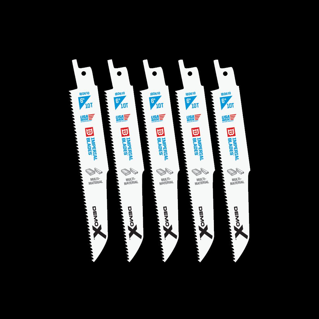 Demolition 6″ 10 TPI Multi-Material Reciprocating Blade