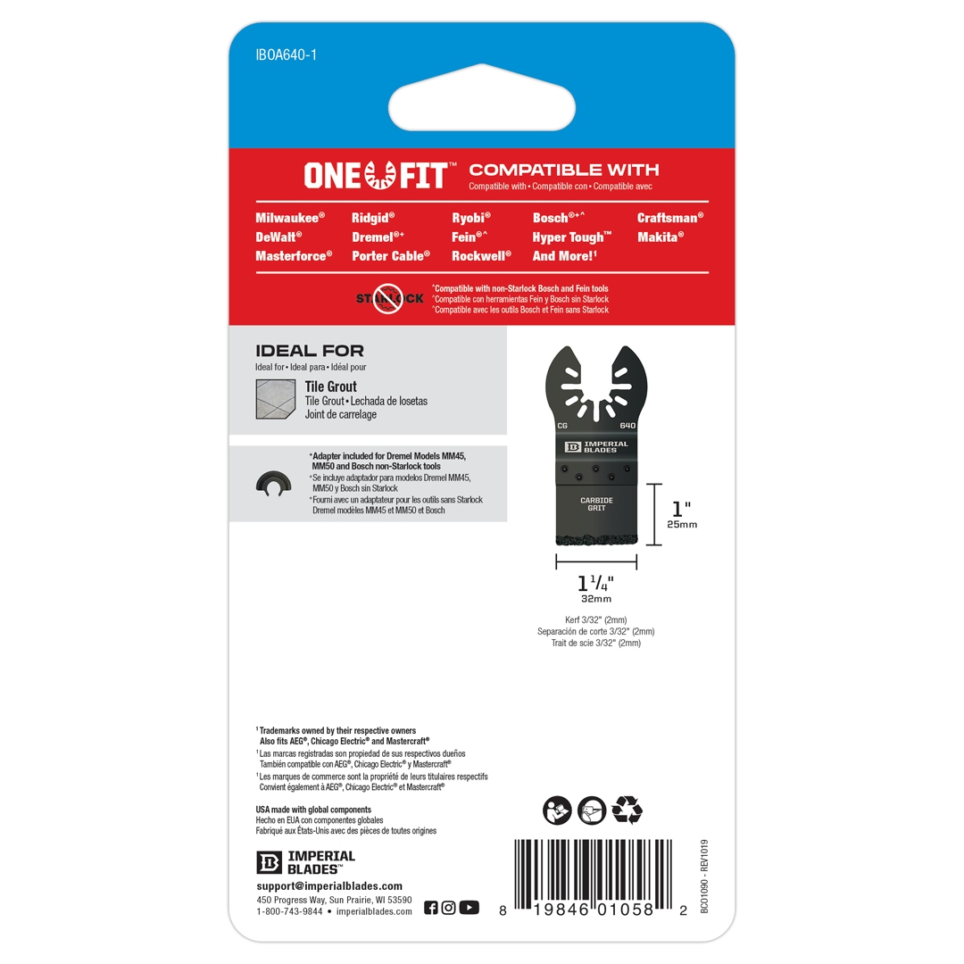 One Fit™ Carbide Grit Plunge Cut Blade