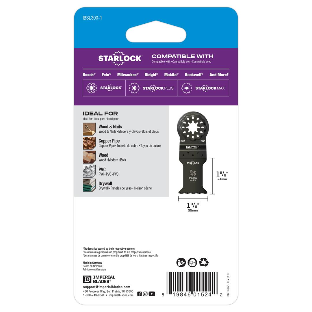 Starlock™ Standard Wood & Nails Blade