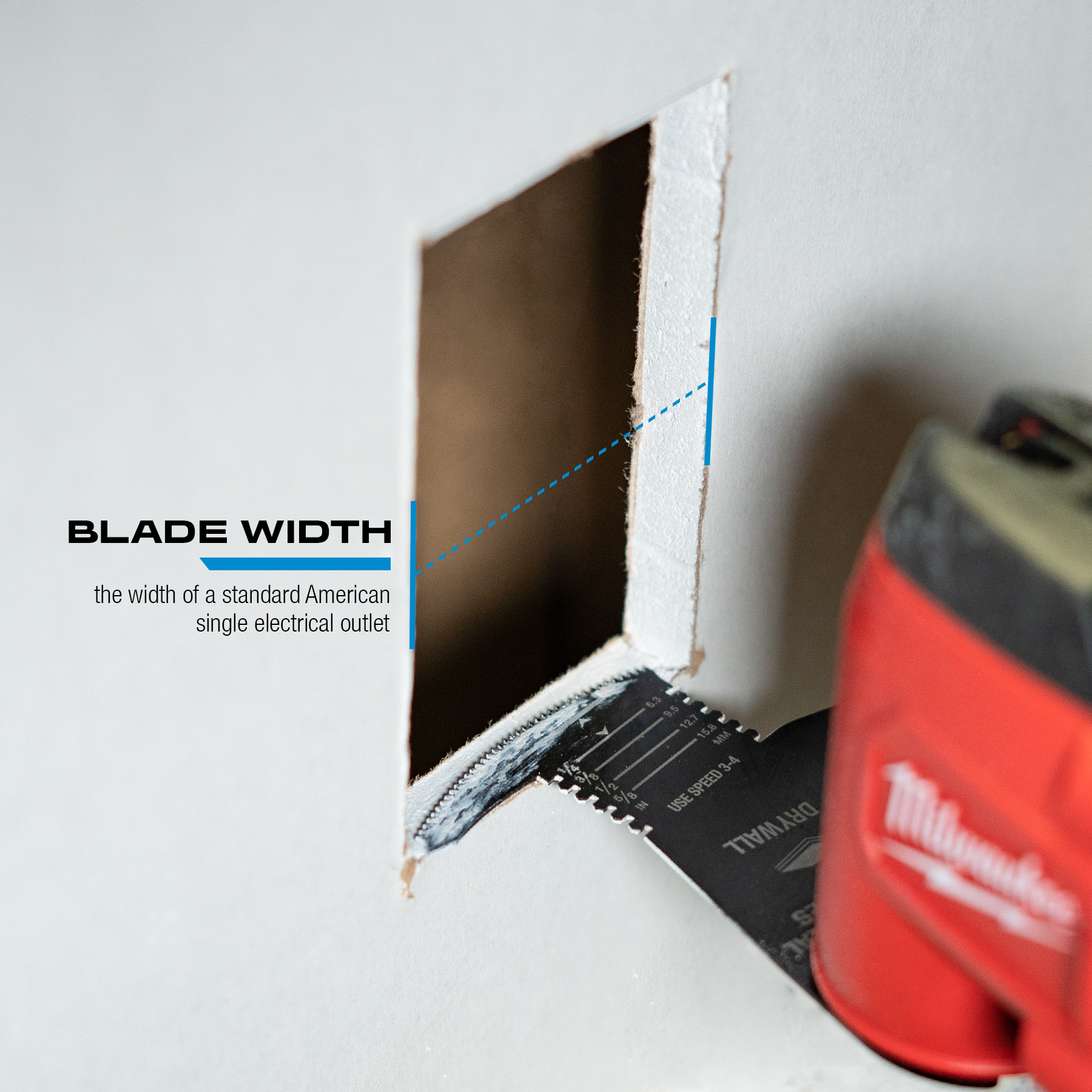 One Fit™ 4-IN-1 Features Drywall Blade