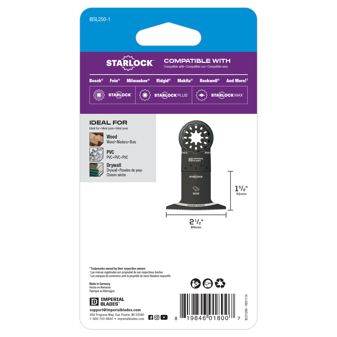 Starlock™ Standard Power Curve Wood Blade
